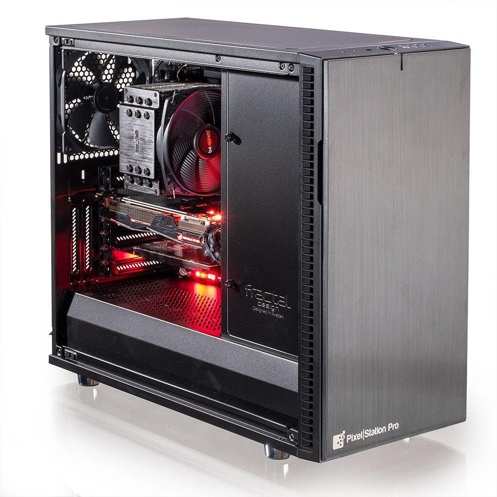 Optimaler PC für die Bildbearbeitung rot schwarz - PC von innen