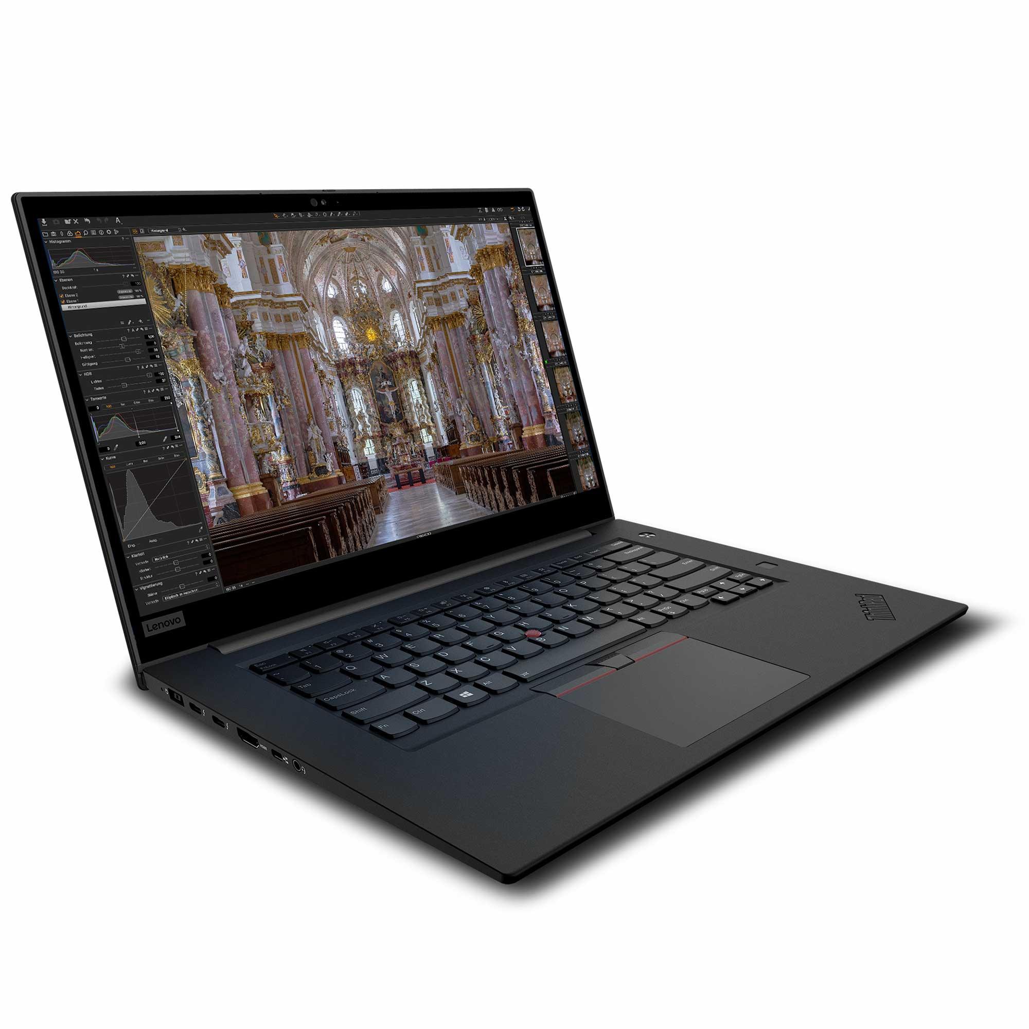 Lenovo P1 gen2 für Bildbearbeitung von der Seite mit Capture One